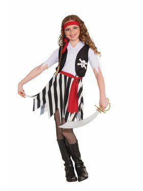 Girl's Buccaneering Costume