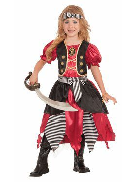 Girls Buccaneer Princess Costume