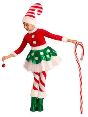 Toddler/Child Christmas Candy Cane Princess Costume