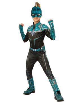Girls Captain Marvel Deluxe Kree Costume