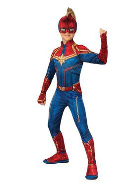 Girls Captain Marvel Hero Suit Costume
