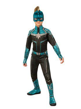 Girls Captain Marvel Kree Suit Costume