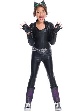Girl's DC Superhero Girls Deluxe Catwoman Costume