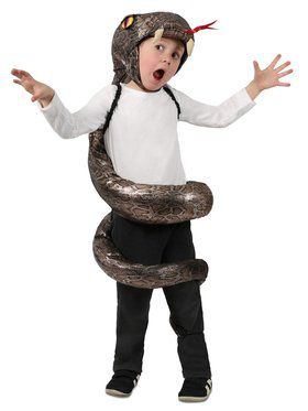 Girls Child Slither Snake Child Costume