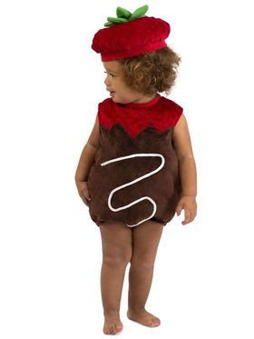 Girls Chocolate Strawberry Child Costume