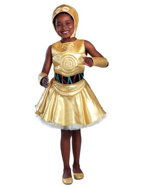 Girls Classic Star Wars C-3Po Dress Costume