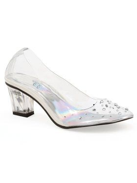 Girls Clear Princess Slipper