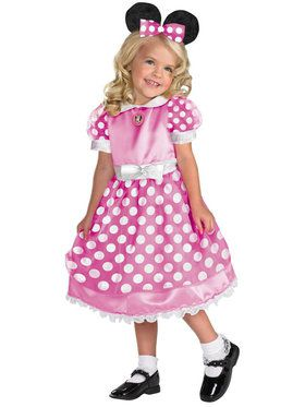 Pink Minnie Mouse Girls Clubhouse Costume
