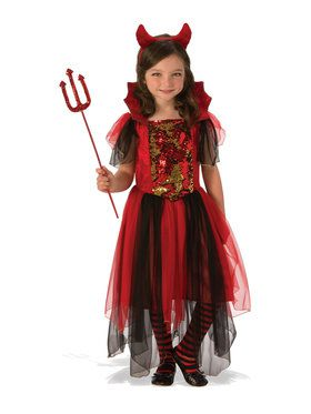 Girls Color Magic Devil Costume