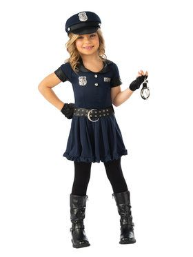 Cop Cutie Costume for Girls