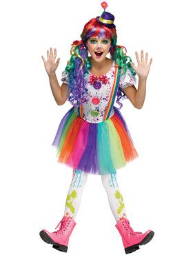Girls Crazy Color Clown Costume  sc 1 st  BuyCostumes.com & Kids Clown and Circus Costumes - Kids Halloween Costumes ...