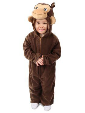 Girls Curious George Costume