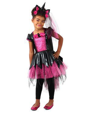 Girls Dark Lady Unicorn Child Costume