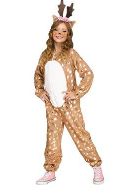 Deer Jumpsuit Girls Costume
