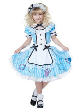 Deluxe Alice in Wonderland Girls Costume