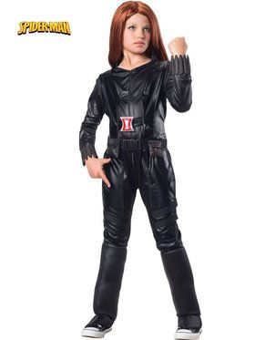 Girls Deluxe Black Widow Girls Costume