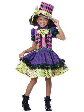 Deluxe Mad Hatteress Girls Costume