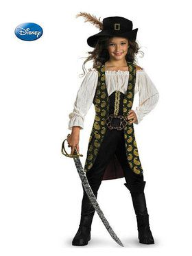 Pirates of the Caribbean Deluxe Girls Costume