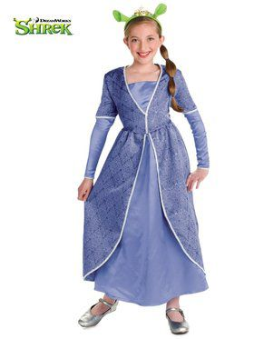 Girls Deluxe Princess Fiona Costume