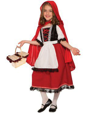 Red Riding Hood Deluxe Costume for Kids