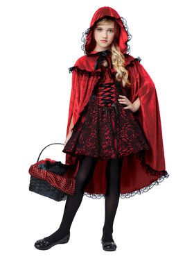 Girls Deluxe Red Riding Hood Costume  sc 1 st  BuyCostumes.com & Girlu0027s Storybook and Fairytale Costumes - Girls Halloween Costumes ...