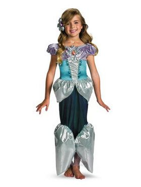 Deluxe Disney Shimmer Ariel Girls Costume