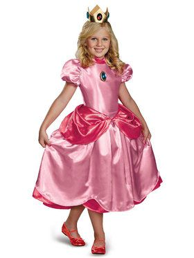 Princess Peach (Super Mario Bros) Costume Deluxe for Kids