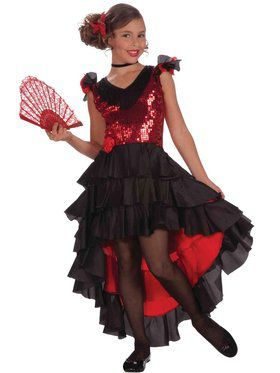 Girls Designer Spanish Dancer Costume