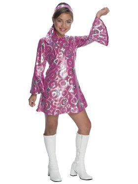 Girls Disco Princess Costume