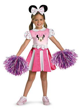 Girls Disneys Minnie Mouse Cheerleader C