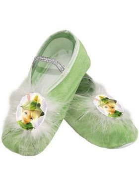 Girls Disney Tinker Bell Ballet Slippers