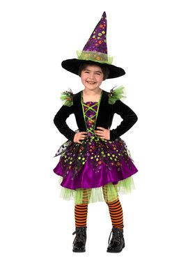 Girls Dotty The Witch Halloween Costume