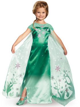 Girls Elsa Frozen Fever Deluxe Costume