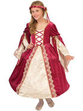 Girls English Princess Costume
