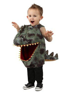 Girls Feed Me Dino Child Costume