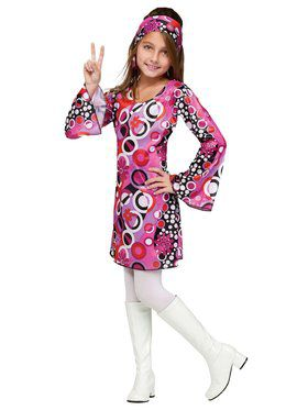 Girls Feelin Groovy Disco Costume