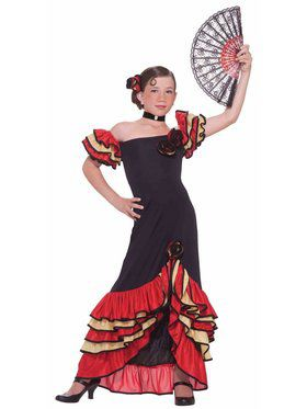 Flamenco Girl Dancer Costume for Kids
