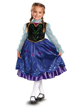 Girls Frozen Anna Deluxe Costume