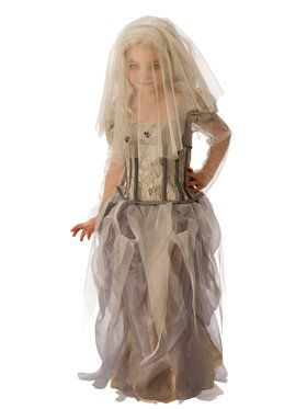 Girl's Ghostly Spirit Bride Costume