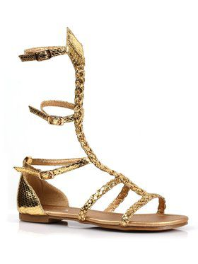 Girls Gladiator Flat Gold Sandal