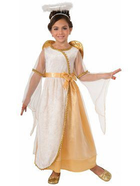 Girls Golden Angel Costume