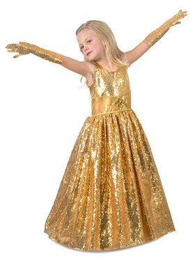 Golden Gala Showstopper Girls Costume