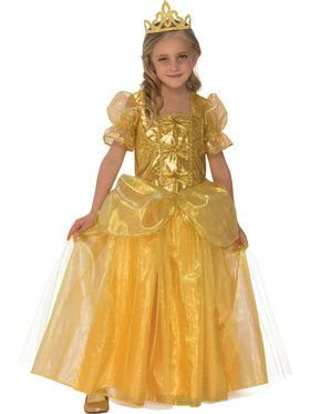 Girls Golden Princess Costume