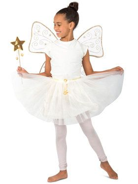 Girls Goldie The Glitter Fairy Costume