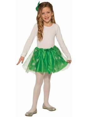 Girls Green Sparkle Skirt