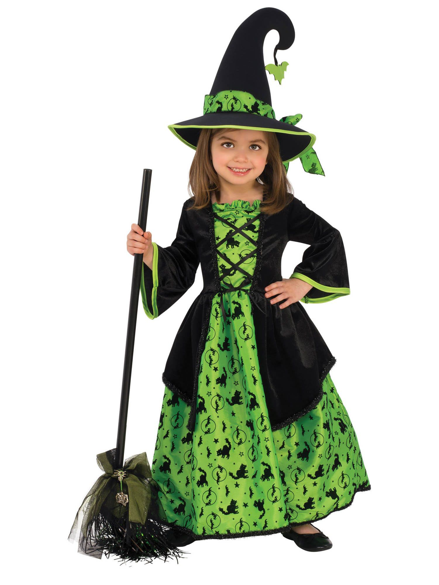4e88379a45d Girl's Wicked Green Witch Costume - Kids 2018 Halloween Costumes ...