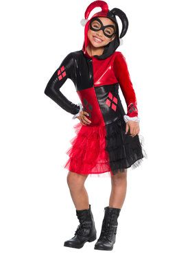Harley Quinn Girls Hoodie Dress
