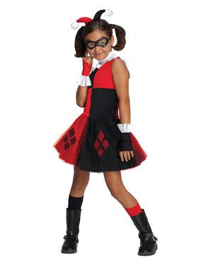 Girls Harley Quinn Tutu Dress