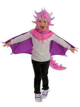 Girls Hooded Sadie Dragon Child Costume