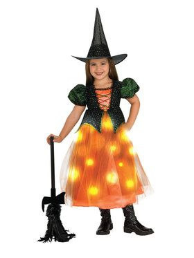 Girls Light Up Twinkle Witch Costume